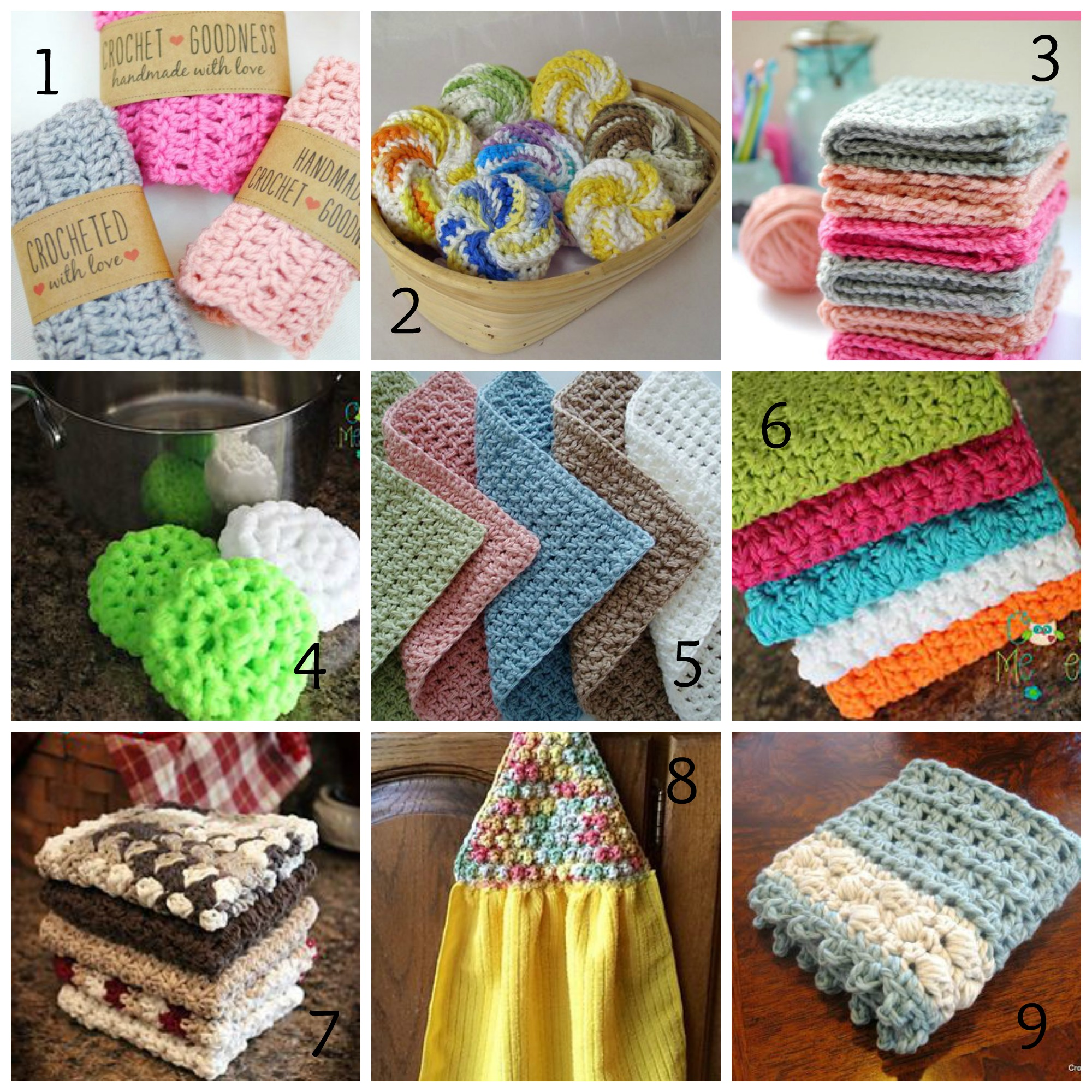 Washcloth, Tawashi & Dishcloth Patterns Roundup - Ambassador Crochet