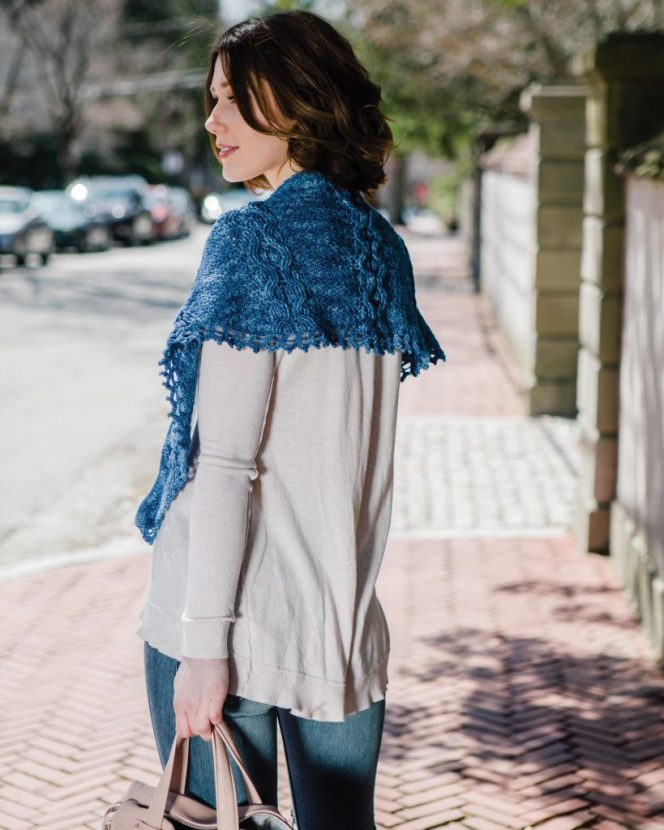 Blue Moon Shawl - Cable Crochet book review by Ambassador Crochet