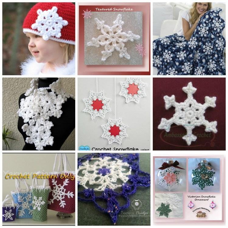 Snowflake Patterns - crocheted snowflake pattern roundup by Ambassador Crochet.