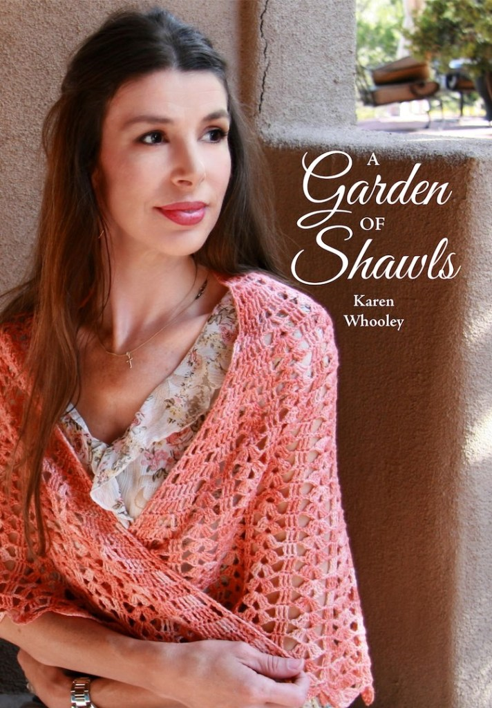 A Garden of Shawls by Karen Whooley - Crochet pattern book review & giveaway by Ambassador Crochet.