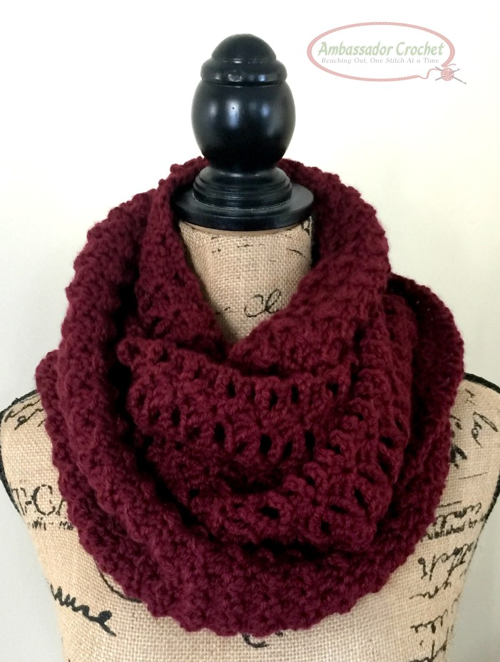 Double Feature Infinity scarf is 2 separate stitch combos - combined to add texture and depth to your scarf. There's also the option of separating the 2 and making 2 separate cowls. - Pattern by Ambassador Crochet - $3.50