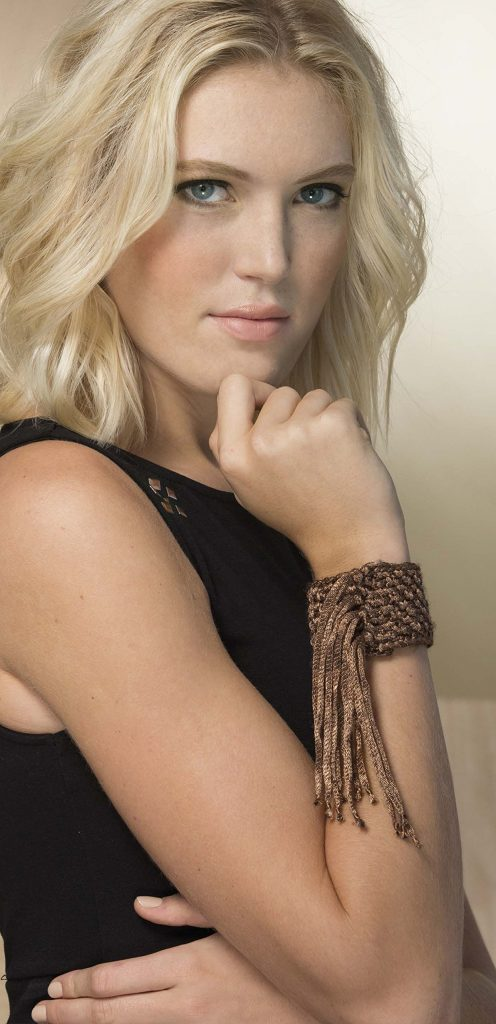 Cuff Bracelet from Fringe Benefits - book review by Ambassador Crochet.