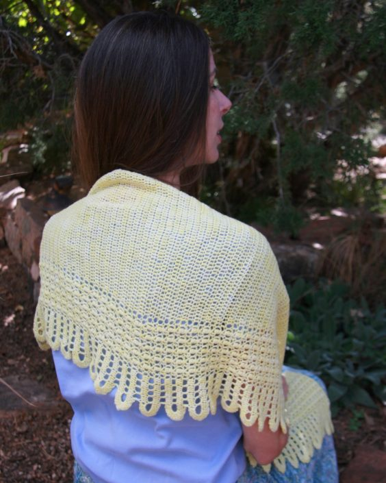 Palisade Shawl from A Garden of Shawls by Karen Whooley - Crochet pattern book review & giveaway by Ambassador Crochet.