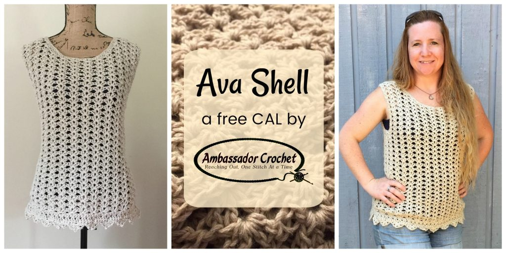 Ava Shell CAL - Free shell tank top for the beginner - crochet pattern by Ambassador Crochet.