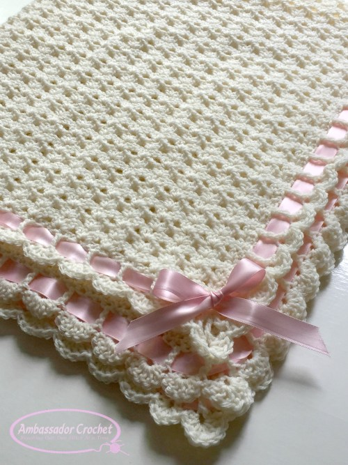 Pemberley Heirloom Baby Blanket crochet pattern by Ambassador Crochet.