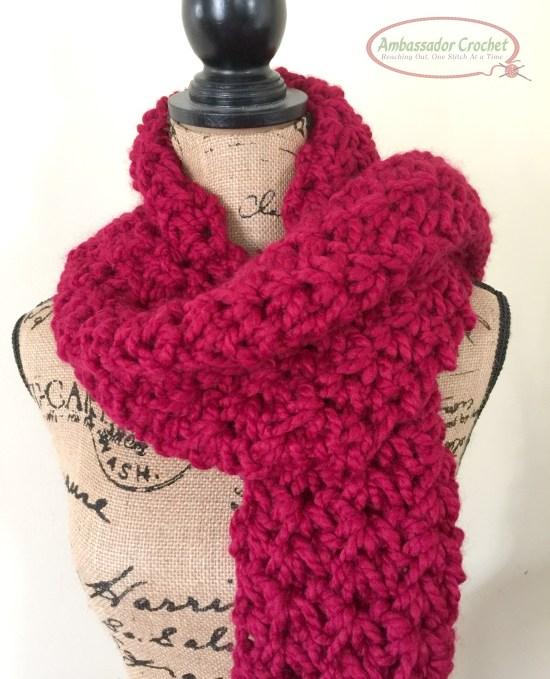 Valentina's Love Infinity - free infinity crochet pattern by Ambassador Crochet.