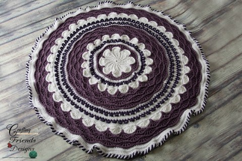 Around the Flower Garden afghan pattern by Crafting Friends Designs.