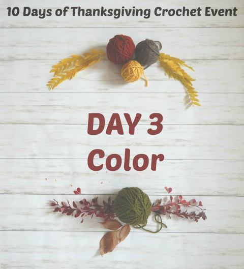 Thankful for color - Day 3 of the 10 Days of Thanksgiving crochet event.
