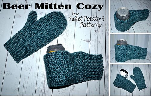 Beer Mitten Cozy by Sweet Potato 3
