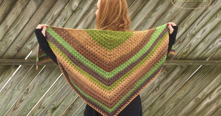 Crossroads Shawl Crochet Pattern