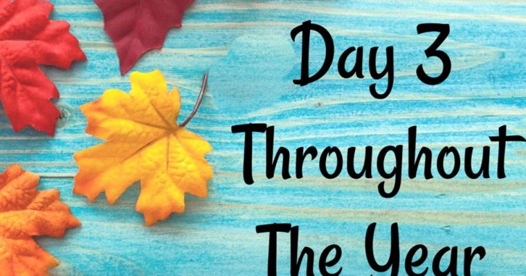 10 Days of Thanksgiving – Day 3