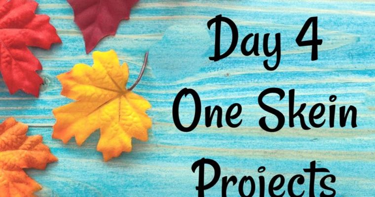 10 Days of Thanksgiving – One Skein Projects {Day 4}