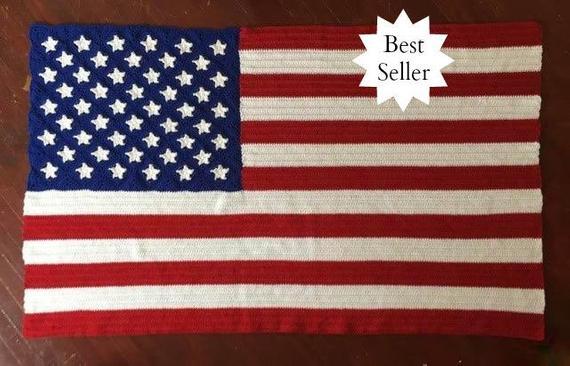American Flag Blanket Crochet Pattern pdf 235