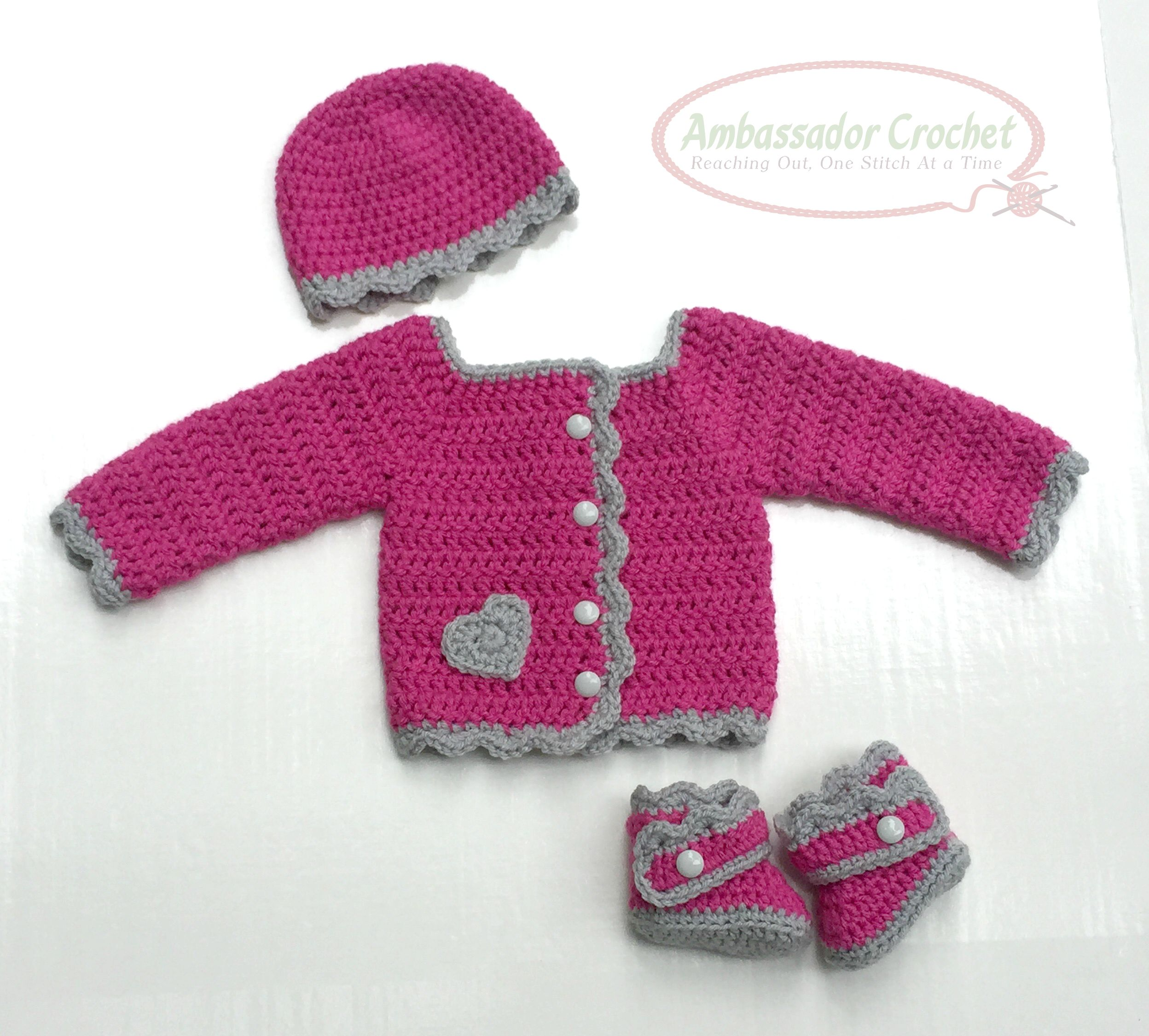 His & Hers Baby Layette Crochet Pattern PDF 216 - Ambassador Crochet