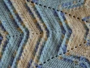 Textured Star baby blanket - crochet pattern by Ambassador Crochet
