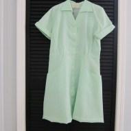 vintage angelica brand uniform dress 50s 60s polyester retro