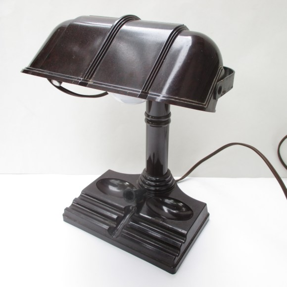 vintage art deco desk lamp industrial bakelite