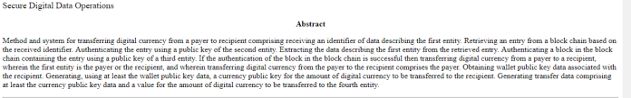 Barclays Secure Digital Data Operations patent abstract | Source: U.S. Patent and Trademark