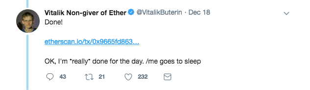 Vitalik's reply to Paul Hauner | Source: Twitter