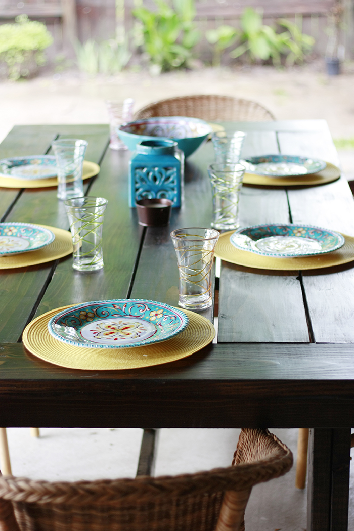 DIY Table with accessories from Big Lots