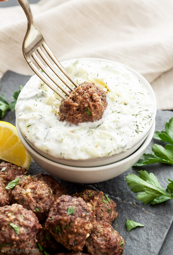 Greek-Meatballs-with-Tzatziki-Sauce reciperunner