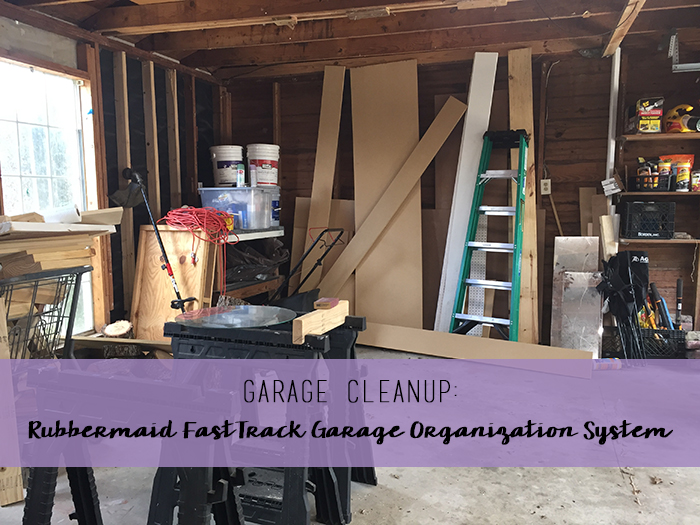 Garage cleanup with Rubbermaid FastTrack Garage Organization System