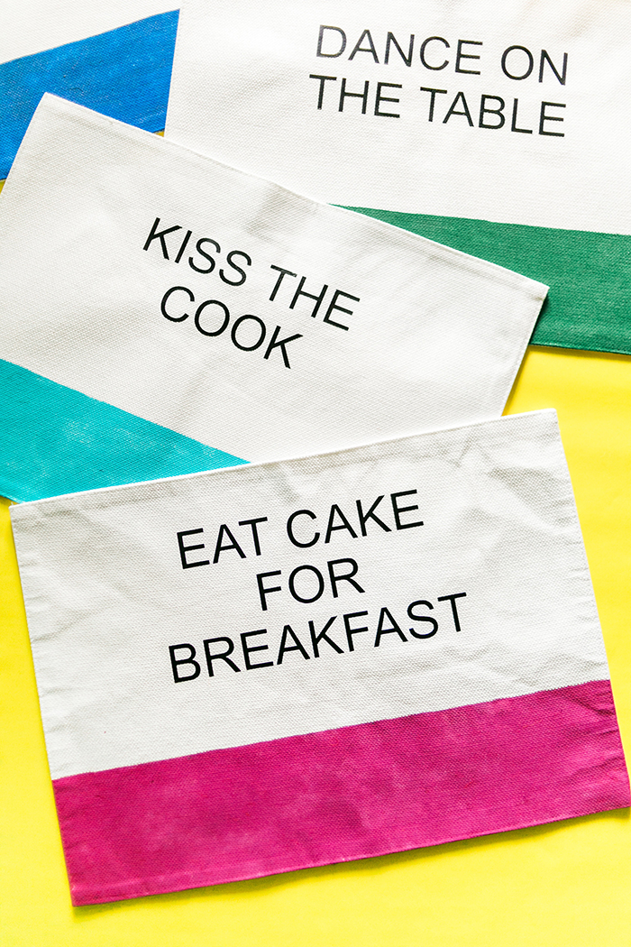 DIY Kate Spade Inspired Placemats by Amber Oliver (Photo by Think Elysian)