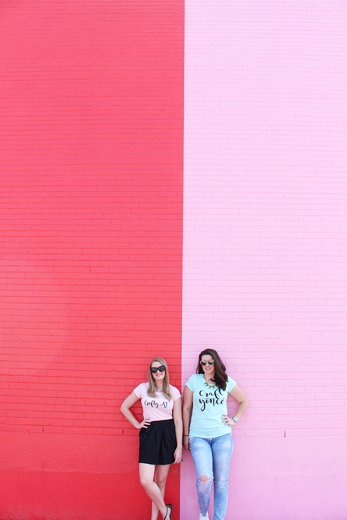 DIY Crafty T Shirts using heat transfer vinyl! // Amber Oliver