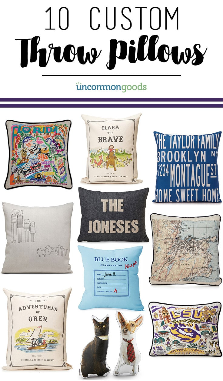 10 Custom Throw Pillows From UncommonGoods   Great Gift Ideas!