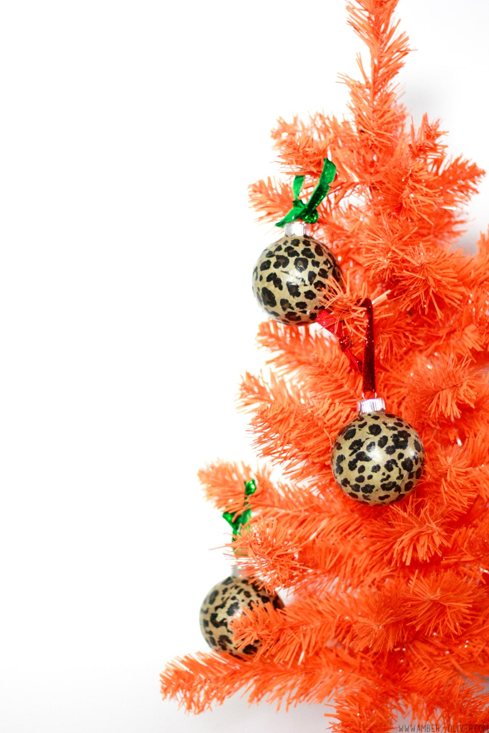 DIY Leopard Print Ornaments