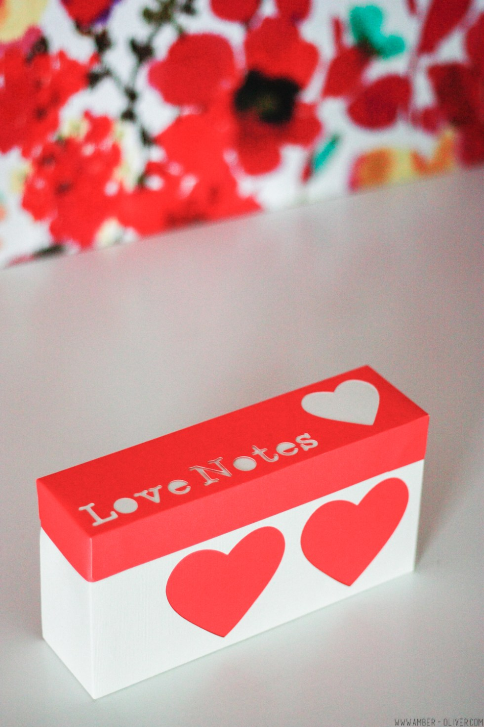 DIY Love Notes Box made using the Cricut Explore Air 2
