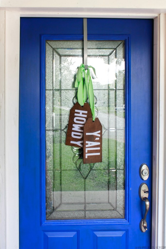 DIY Wood Tag Door Hangers