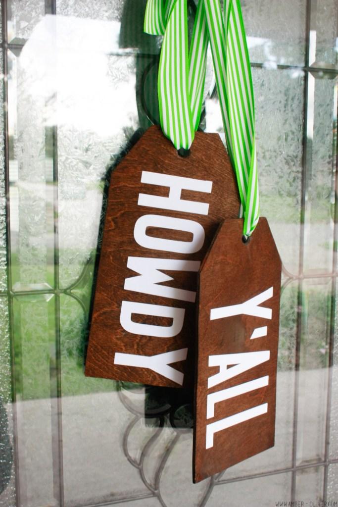 Diy Wood Door Hangers Amber Oliver