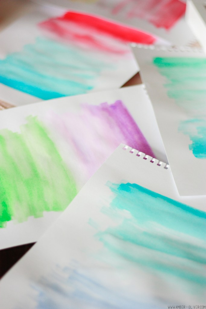 Ombre Watercolor Gallery Wall How To