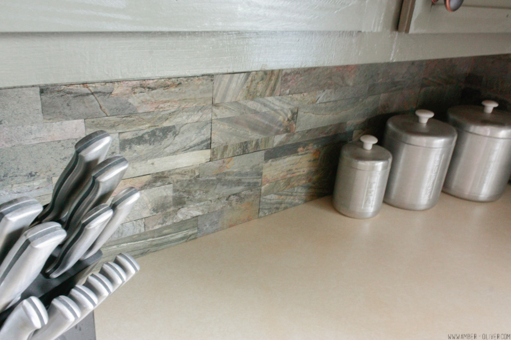 DIY Backsplash How to Install Peel and