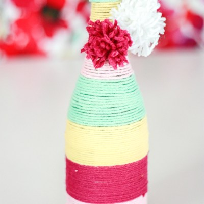 Yarn Wrapped Bottles – How to Upcycle Wine Bottles