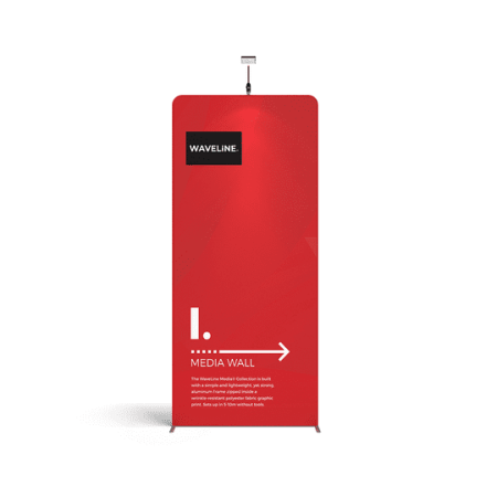 WaveLine Media Tension-Fabric Backdrop Exhibition Stand