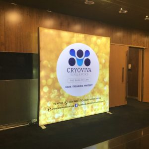 Exhibition Stand Rental Package 12: ISOframe Lightbox Backdrop Rental 2.5mW x 2.5mH