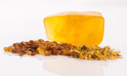 Mydełka z burszynem amber inclusion