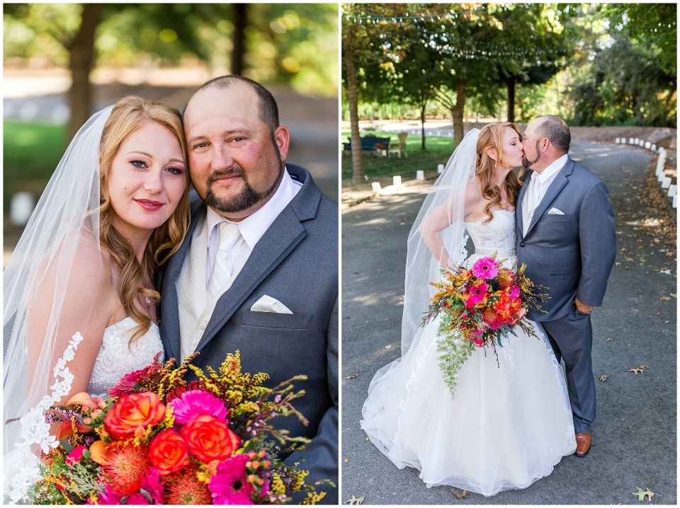 Elegant Colorful Fall Garden Wedding Gridley California,