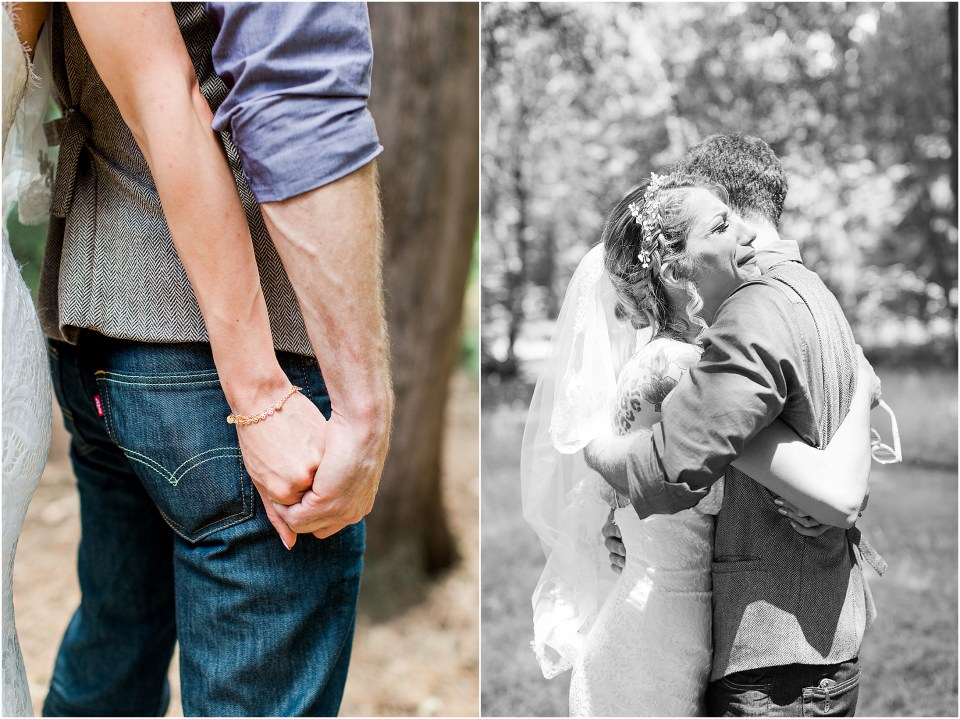 Chico CA Bidwell Park Chico Creek Nature Center Romantic Intimate Wedding,