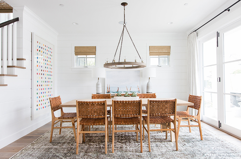 Amber interiors creates a beachy eclectic home for elyse for Dining room queen street