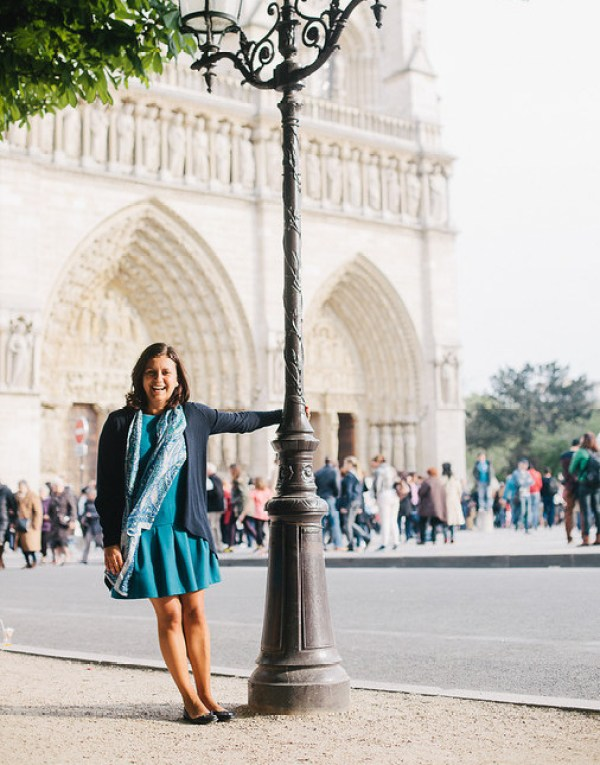 Ana Silva O'Reilly enjoying a moment in Paris, France. Photo Credit: Flytographer.