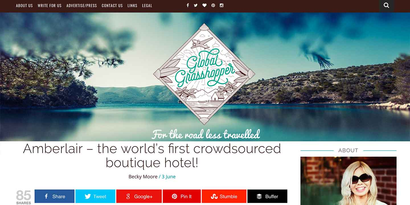 Amberlair Crowdsourced Crowdfunded Boutique Hotel -Global Grasshopper