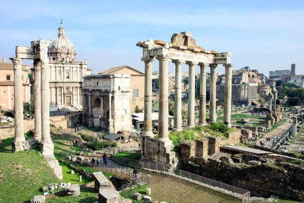The Roman Forum in Rome.