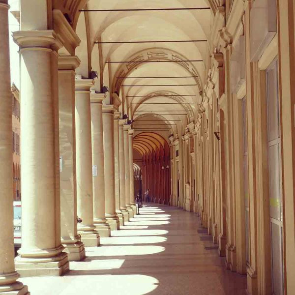 The arcades of Bologna.