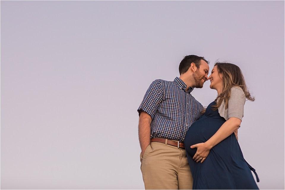 maternity_mount-lemmon_pregnant-mother_blue-dress_super-moon_sunset_07