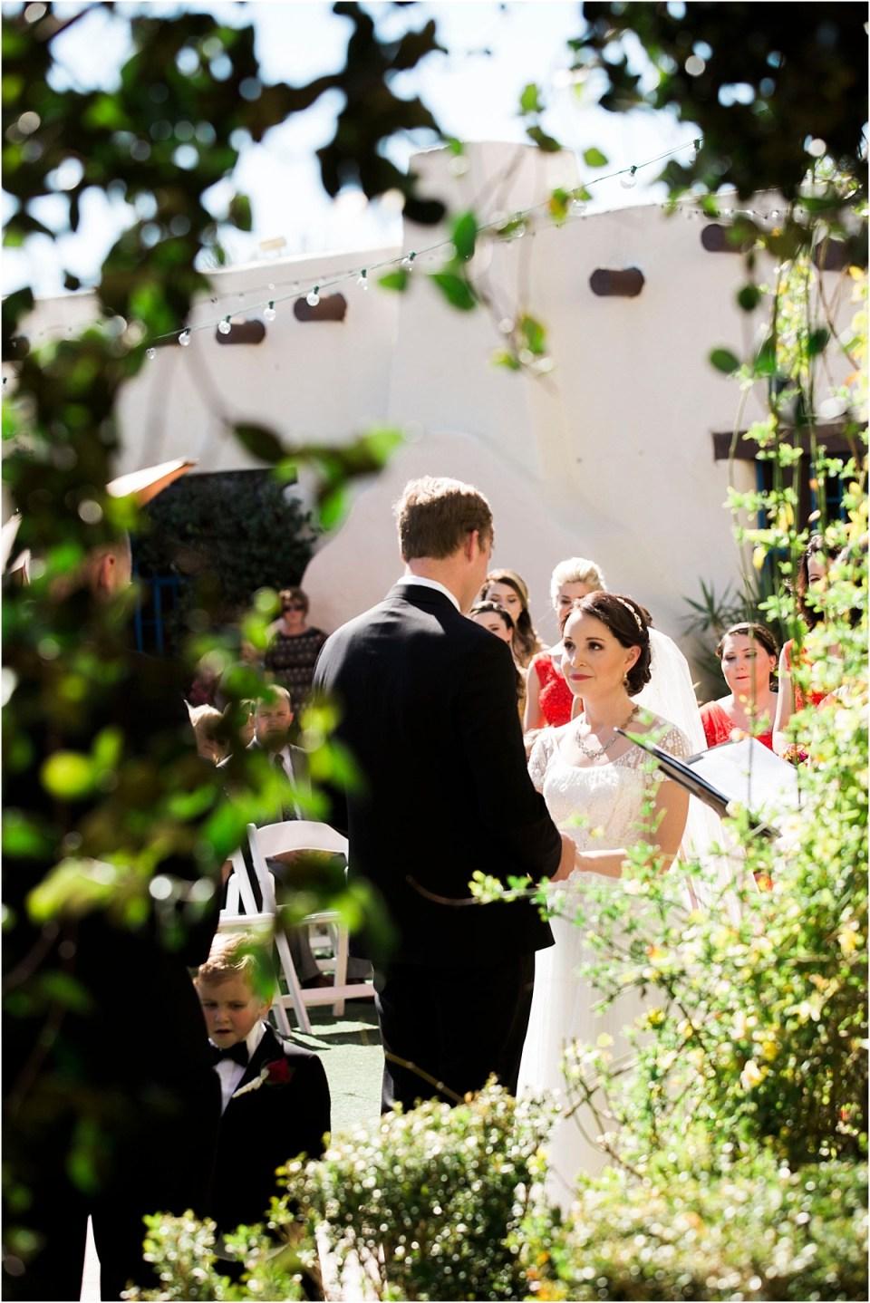 Wedding Ceremony at Hacienda Del Sol, Tucson, Arizona.