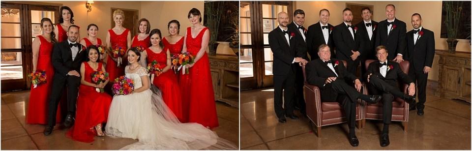 Wedding Party Photo at Hacienda Del Sol, Tucson Arizona
