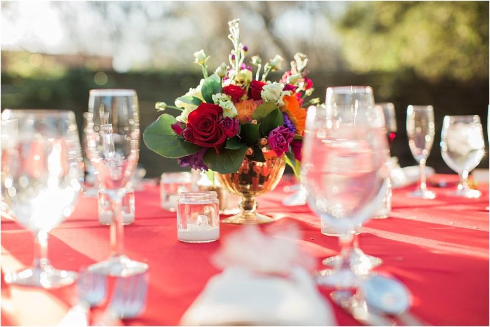 Table center piece, elegant private estate reception, Tucson, Arizona.